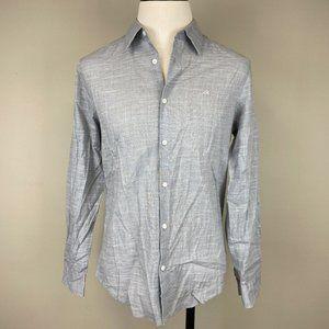 Calvin Klein Men's Stretch Gray Dress Shirt Med